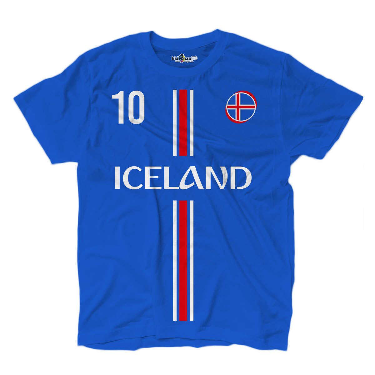 Camiseta de fútbol nacional Gylfi sigurdson Island 10 S Azul Real