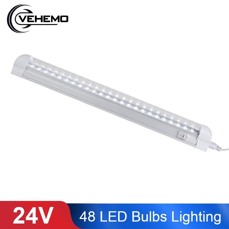 24V Trucks Vehicle 48 LED Bulbs Working Lighting Light Lamp 6000K Bright Driving modified car lights Cab White