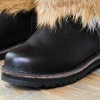 Унты мужские высокие натуральный волк, войлочно-резиновая подошва #3