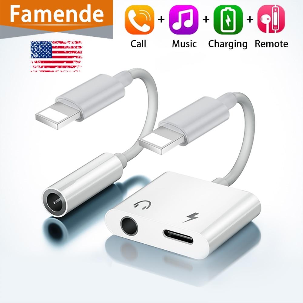 Adaptador Jack para Iphone 7, 8X11, Adaptador de auriculares Lightning a 3,5,...