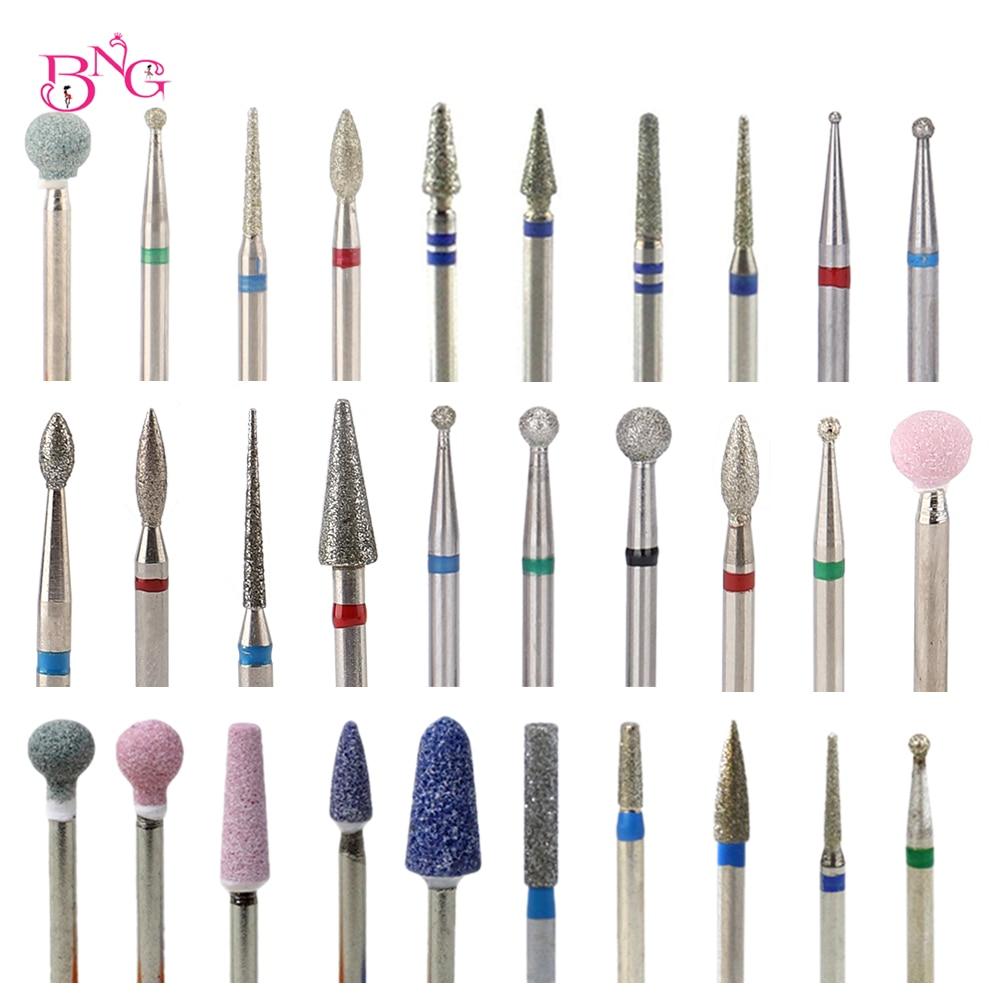 BNG 5ps набор твердосплавных сверл для ногтей сверло для сверления кутикулы для электрической машины для маникюра педикюра наконечник алмазный камень Naill файл