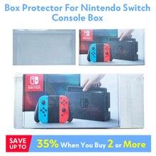 Коробка протектор Для Nintendo консолью коммутатора рукав пользовательские идеально Размеры прозрачный Пластик защиты