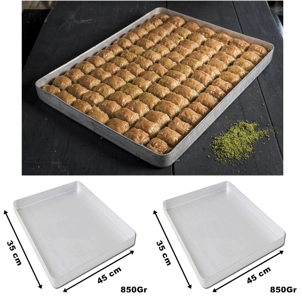 Baklava Tray Tepsisi Originial Turkish Baklava Dessert Tray Plate Aluminum Rectangle BEST QUALITY