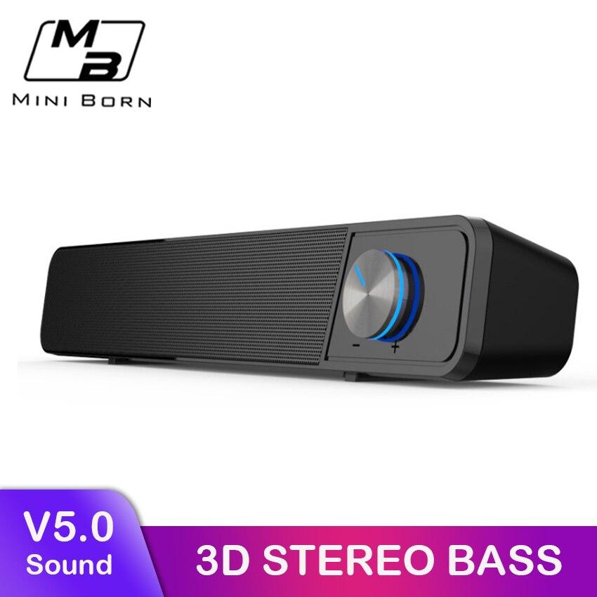 MiniBron Altavoz Bluetooth inalámbrico portátil Bluetooth 5,0 altavoz inalámbrico 4D estéreo música altavoz envolvente