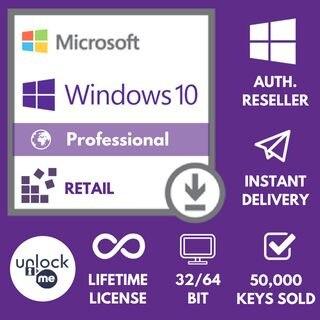 2021 Microsoft -Windows 10 Pro professionnelle 32/64bit Activation key licence ALL language✅ 100% original ✅100% trusted seller