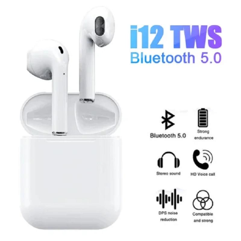 Airpods sem fio fone de ouvido i12 tws alta qualidade original bluetooth 5.0 sem fio fone