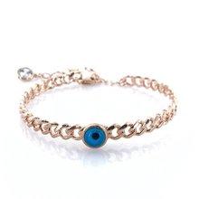 Mauvais œil verre oeil perles Simple élégant tarière argent Bracelet