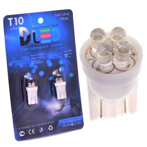 1 Uds LED lámpara de coche T10 - W5W - 4 Dip-Led