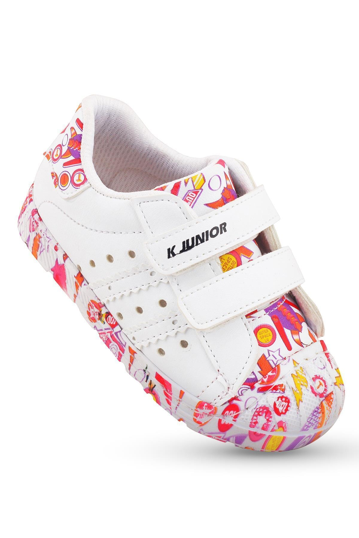 Flaneur Baby Girl White Orthopedic Genuine Leather Sports Shoes 2021 Premium Quality
