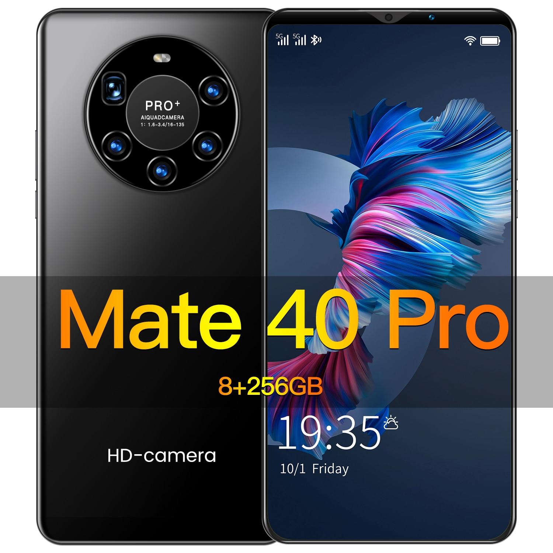 Hawei Mate40 برو الهاتف الذكي أندرويد سللار 8GB 256GB الهواتف الذكية مقفلة 5G 5000mAh 6.2