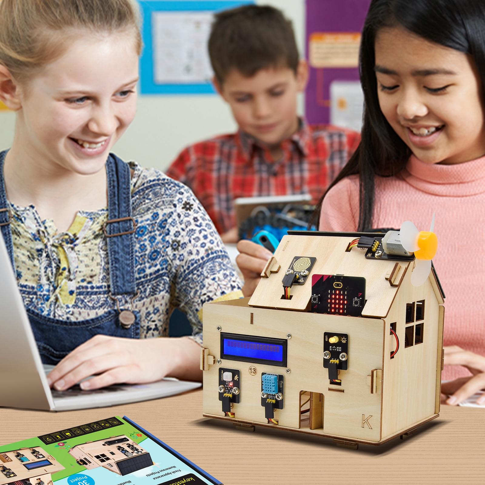 New ! Keyestudio Smart Home Kit for BBC Micro:Bit Kit Starter Kit DIY STEM With Solar Panels ( NO Micro:Bit Board )