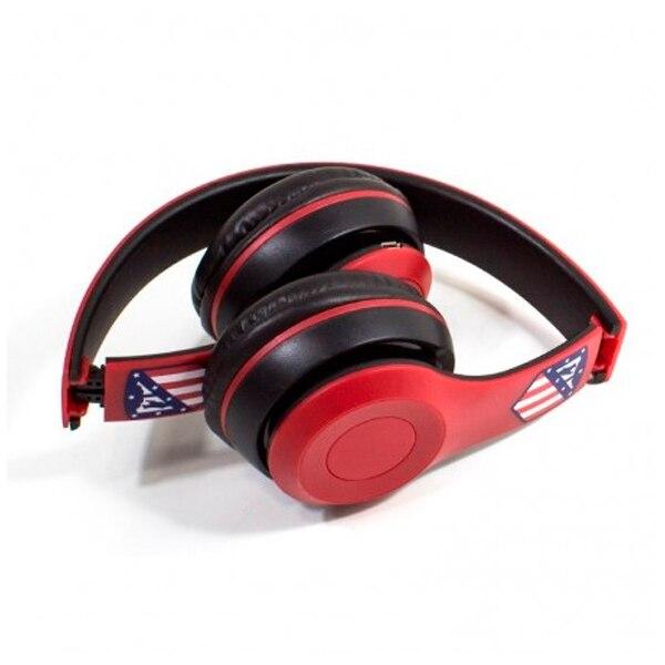 Auriculares de Diadema Plegables Atlético Madrid Bluetooth Rojo