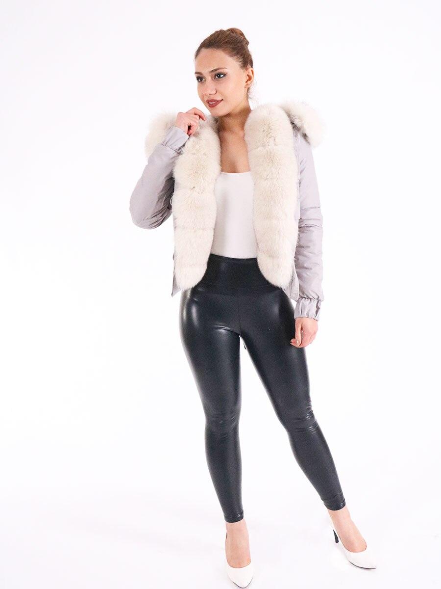 Fashion jacket, natural fox fur real fox fur jacket warm Jacket 2021 Turkish Moda