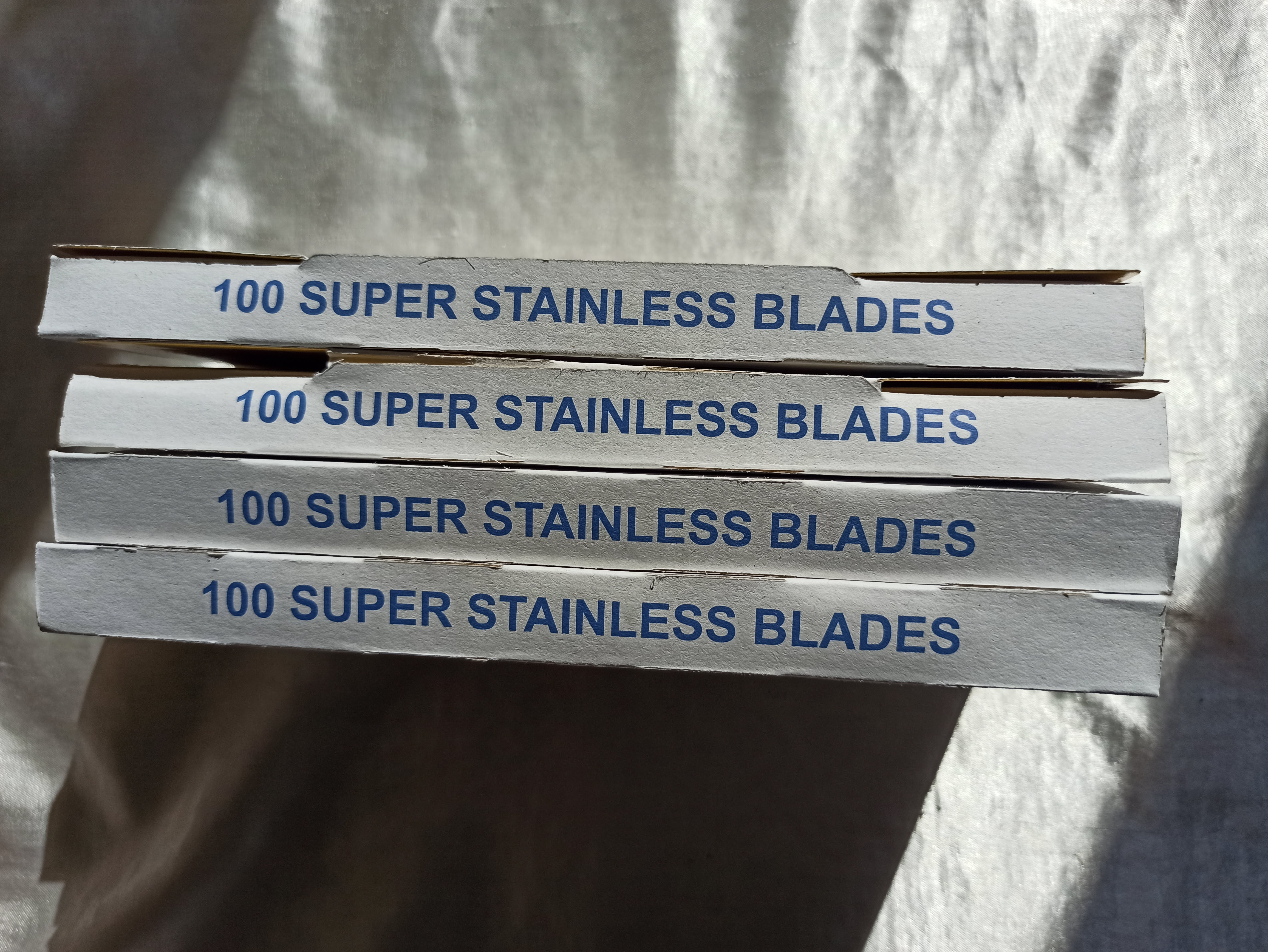 400 Razors 4 Boxes  Highest Shark Super Stainless Razor Blades--+ shaving brush as a gift enlarge