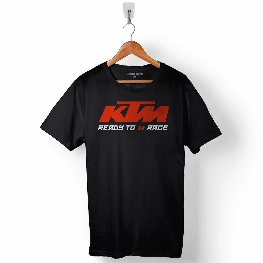 KTM, listo para la carrera de SUPERMOTARD Logotipo de moto hombres camiseta