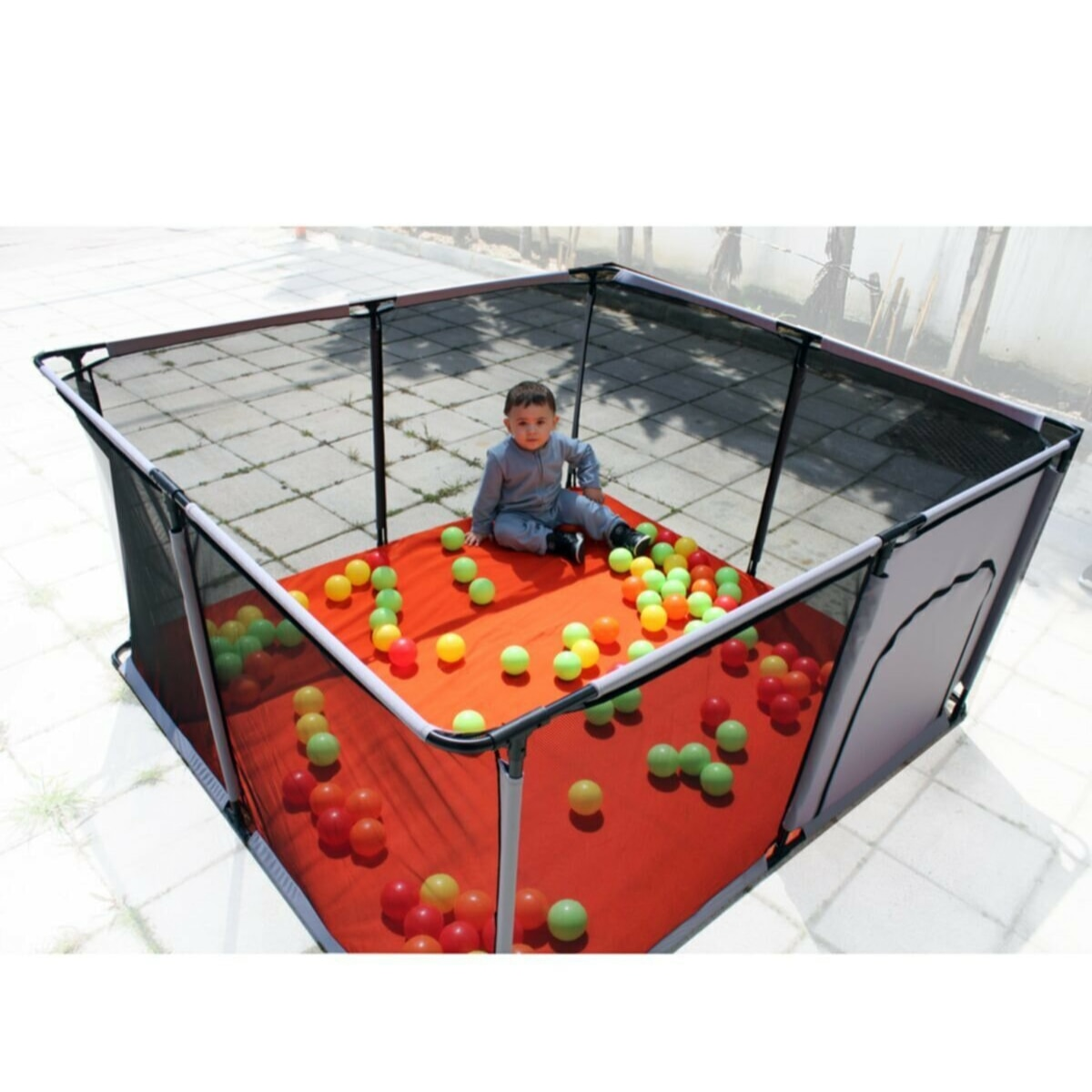 TurQuality Portable Baby Playpens Playing Zone Toddler Gaming Area 6 months ~ 6 Years Old Kids Soft Play Indoor Playground Pit safety Fence Yard  Baby Toys Pool Boys Girls Unisex Parents Mother Mommy Free Dropshinping