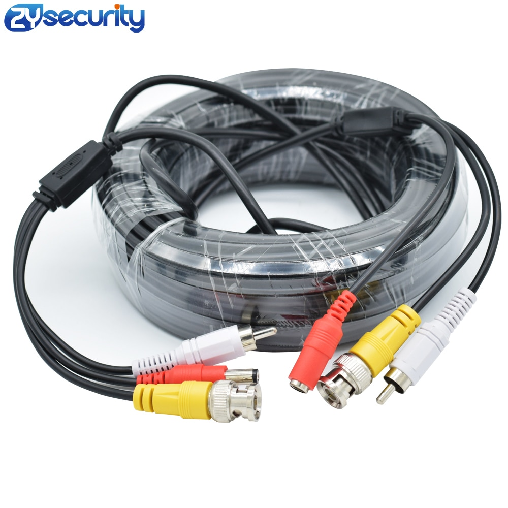 High quality BNC RCA Cable Video Audio Line Security CCTV Camera DC Power Copper Cored Wire AHD CVI TVI Surveillance System enlarge