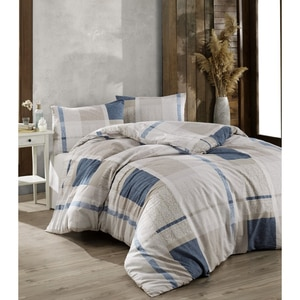 Crystal By Crown 100% Cotton Bedding Set, Home Textile Bedding Set, Bedspread, Duvet Cover Flat Sheet Pillow Case Turkey Atlas