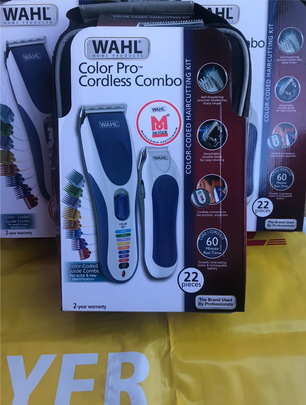 Wahl Color Pro Combo Cord/Cordless Hair Clippers, Trimmers, Grooming Kit, Color Coded Hair-Beard Cutting Machine Kit enlarge