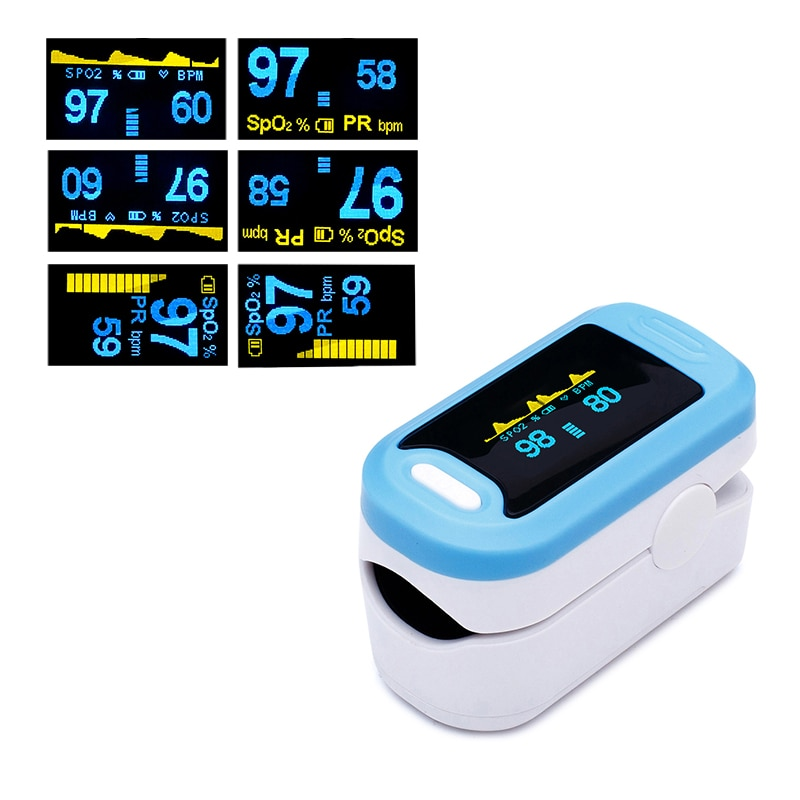 Pulse Oximeter Finger Oximeter Household Blood Oxygen Saturation Meter Health Care Fingertip SPO2 PR Monitor Oximetro De Dedo