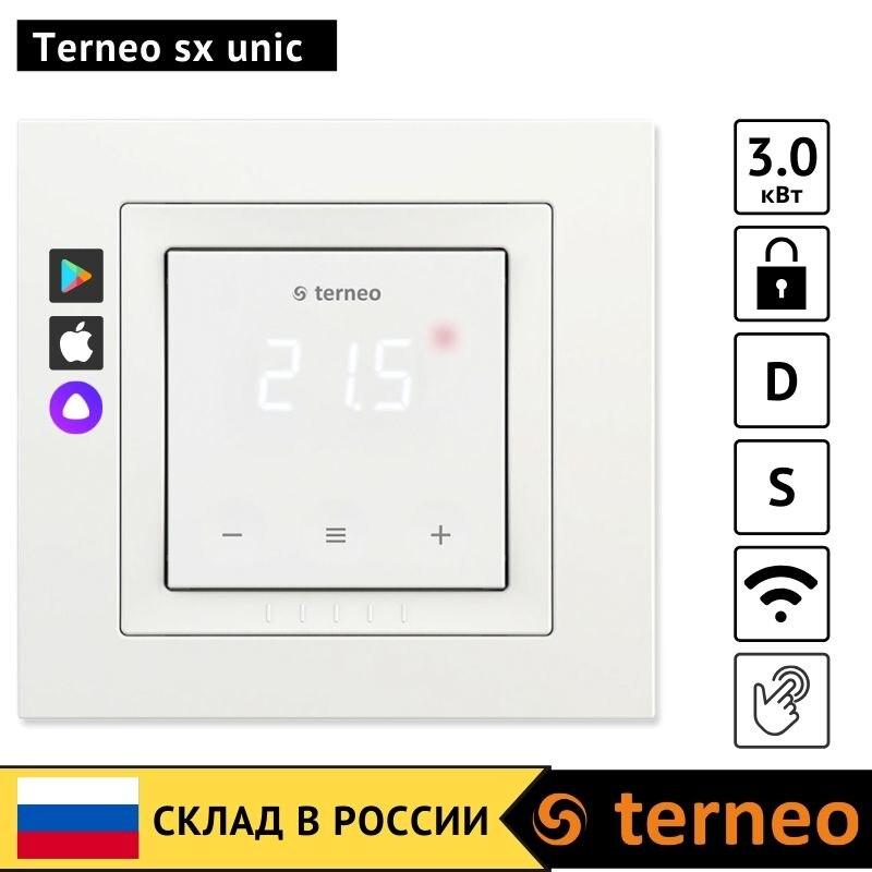 Terneo sx unic-touch elektrische thermostat mit WiFi für boden heizung und temperatur sensor infrarot film kabel boden controller