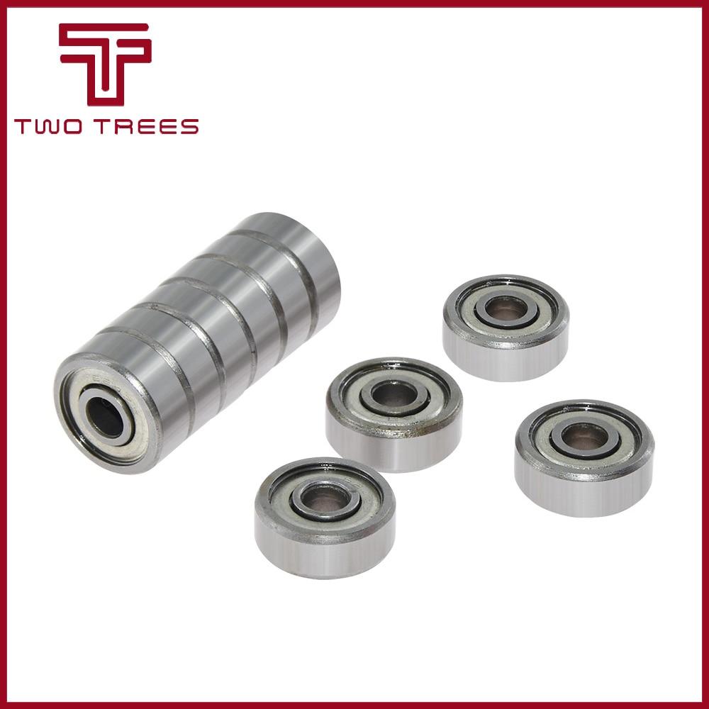 Rodamiento de bolas de brida 623zz 624zz 625zz 626ZZ 688ZZ, rodamiento de polea con brida profunda para piezas de impresoras 3D 10 unidades/lote
