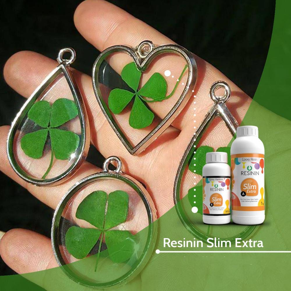 Resinin Slim Extra 7,5 kgs Non-Yellowing Ultra Clear Epoxy Resin-Hardener Kit AB Jewelry Making DIY Crystal Transparent Glue