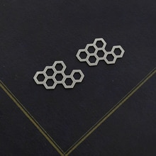 Making Jewelry Findings Honeycomb Stainless Steel Bead Metal Pendant Cut Titanium Steel Geometry Charm For DIY Necklace Earrings