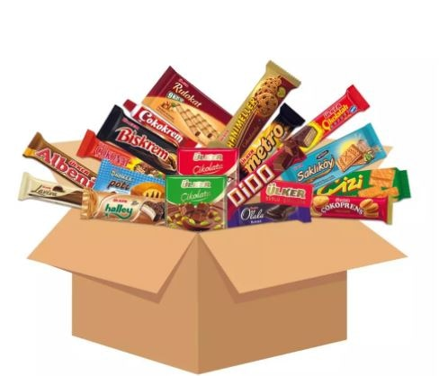 International Snacks Variety Pack, Turkish Snacks Box Famous and Popular Ones, Foreign Snacks Box, Halal Food Medium And X large