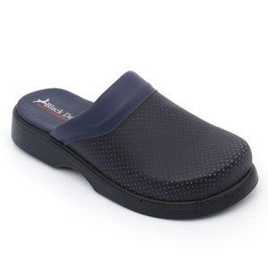 Black Deer Blue Slippers Women Men Walking Slippers 2021 Hospital slippers Nurse Slippers Удобные модные кожаные тапочки