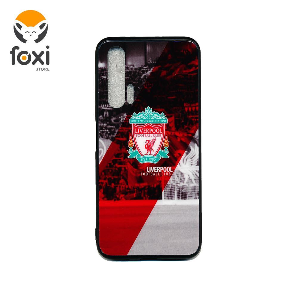 Funda de vidrio templado para Huawei honor 20 Pro FC Liverpool, hermosa funda gris para Huawei honor 20 Pro