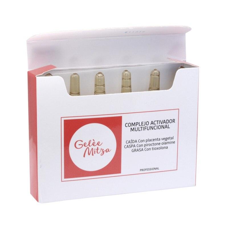 Gelèe Mitza Complejo Activador Multifuncional Tri-action, anti-caspa, 6 ampollas, productos para el cabello