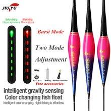 JiuYu-flotteur de pêche intelligent, capteur de gravité, Flash, rappel de morsures de poisson, bouée électrique lumineuse, avec batterie, lumière de Led intelligente