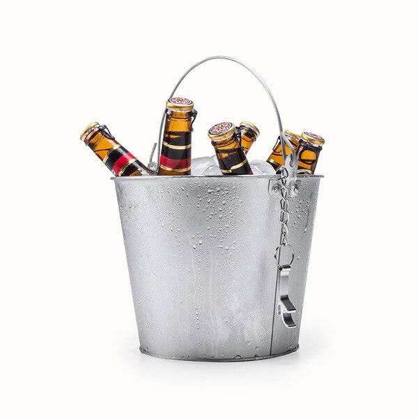 Cubo de hielo con mango y abridor de botellas de aluminio 145332