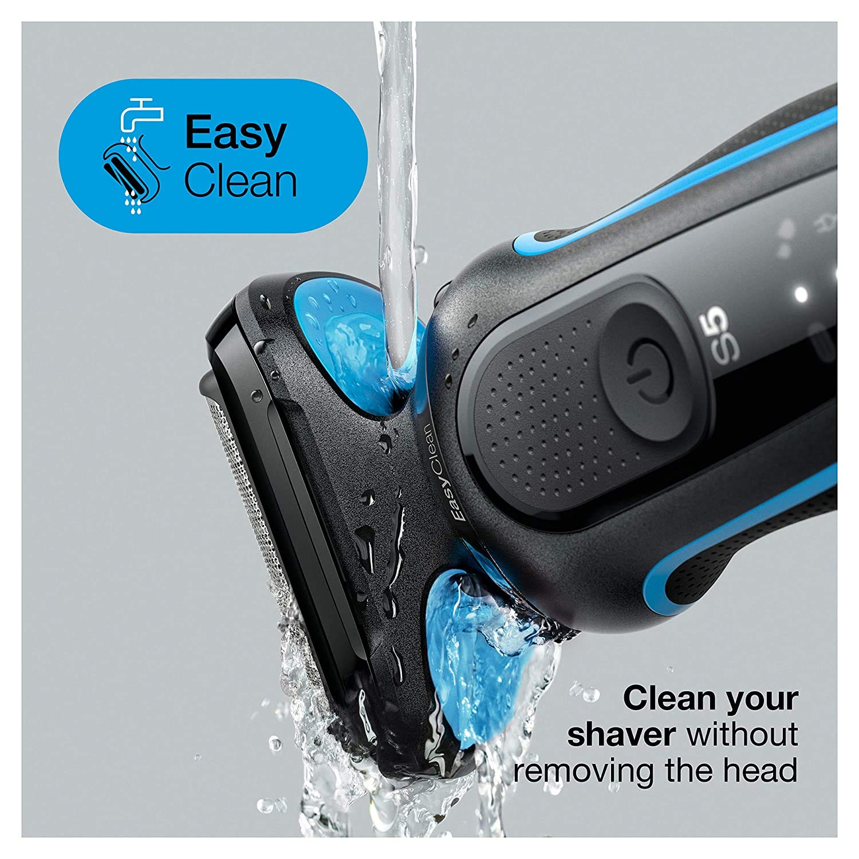 Braun Series 5 50-M1000s Foil shaver Black,Blue Series 5 50-M1000s, Foil shaver, Black,Blue, LED, Battery, Lithium-Ion (Li-Ion) enlarge