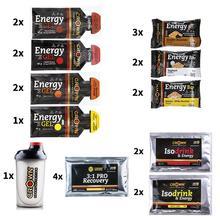 Crown Sport Nutrition, Pack Endurance PRO, Pack de 22 productos + Shaker PRO 750 para Triatlón, Ciclismo, Trail Running, Maratón