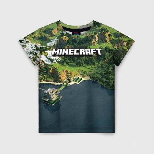 Детская футболка 3D Minecraft|Тройники| | АлиЭкспресс