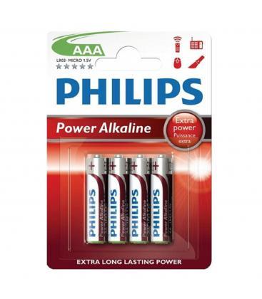 Pilas Philips bateria original Alcalina Tipo AAA LR03 1.5V blister 4X Unidades