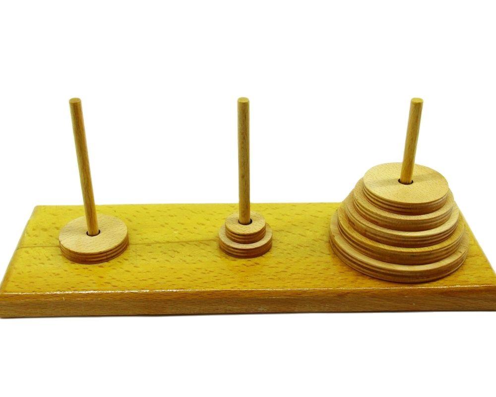 Topological Game Tower of Hanoi IQ Intelligence Developer 3D Puzzle Natural Wood Math Game Montessori montessori toys Children's toys Educational toys Children toys Montessori Toys for children fidget toys