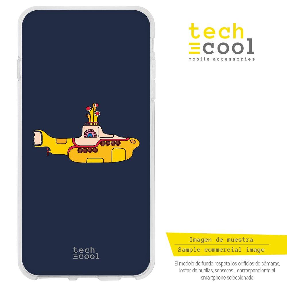 FunnyTech® Funda Silicona para Realme X50 Pro l The beatles Yellow submarine fondo negro