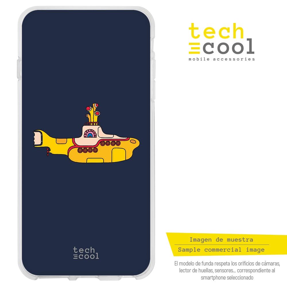 FunnyTech®Силиконовый чехол для Motorola Moto E6 Plus l The beatles желтый подводный черный фон