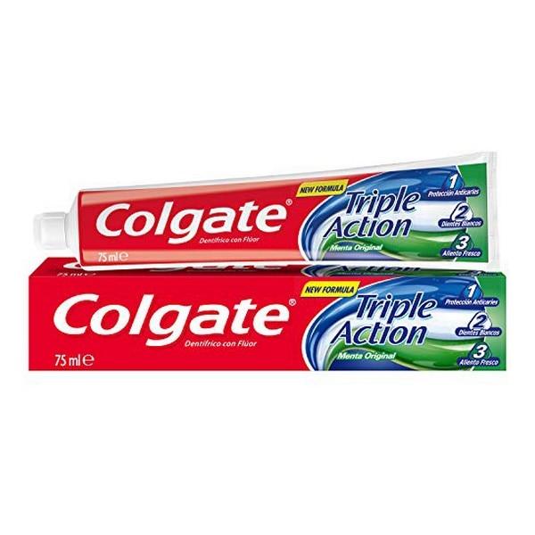 Pasta de dentes triplo accion original hortelã colgate (75 ml)