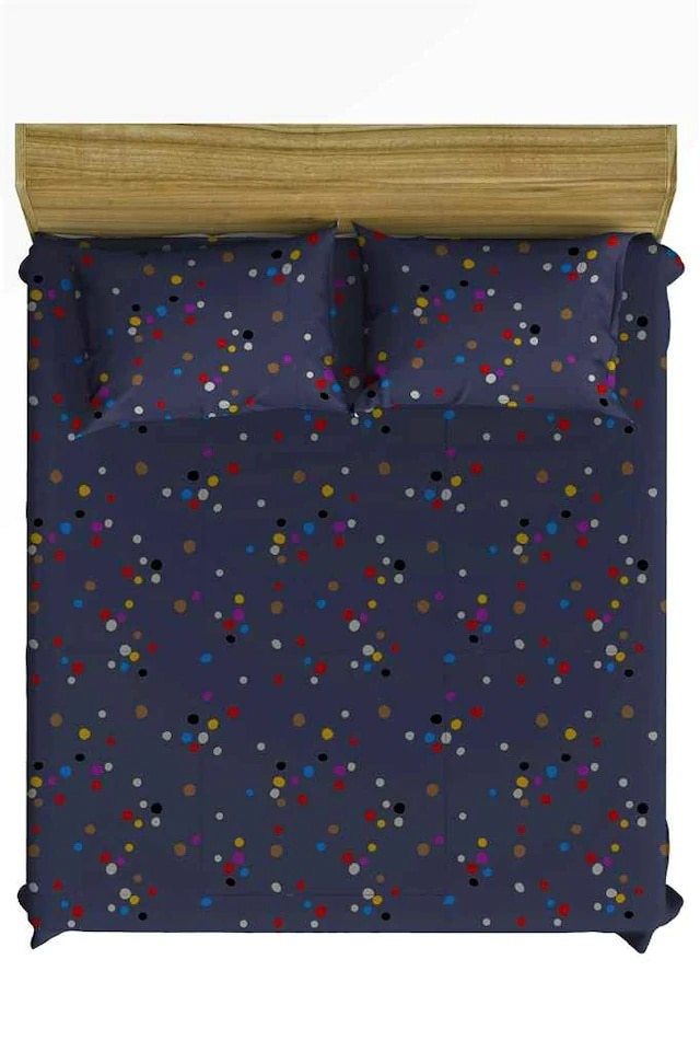 طقم ملاءة سرير من القطن 100 ، 160 × 200 ، مزدوج ، ثلاثي 136164193