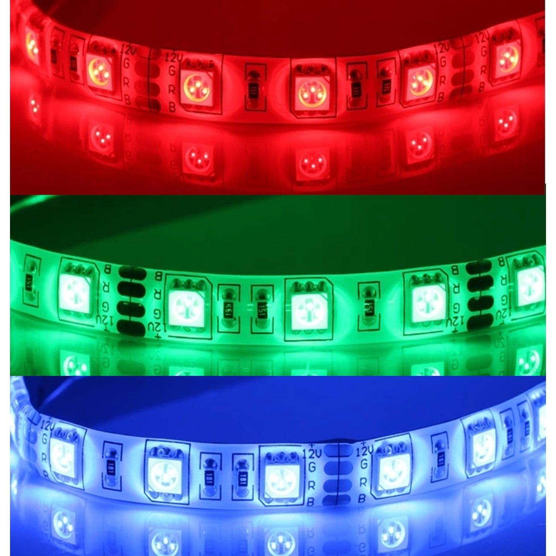 LED streifen 12V DC SMD5050 60LED/meter (5 stoßen) 14W/Stoßen Farbe RGB DIMMBARE