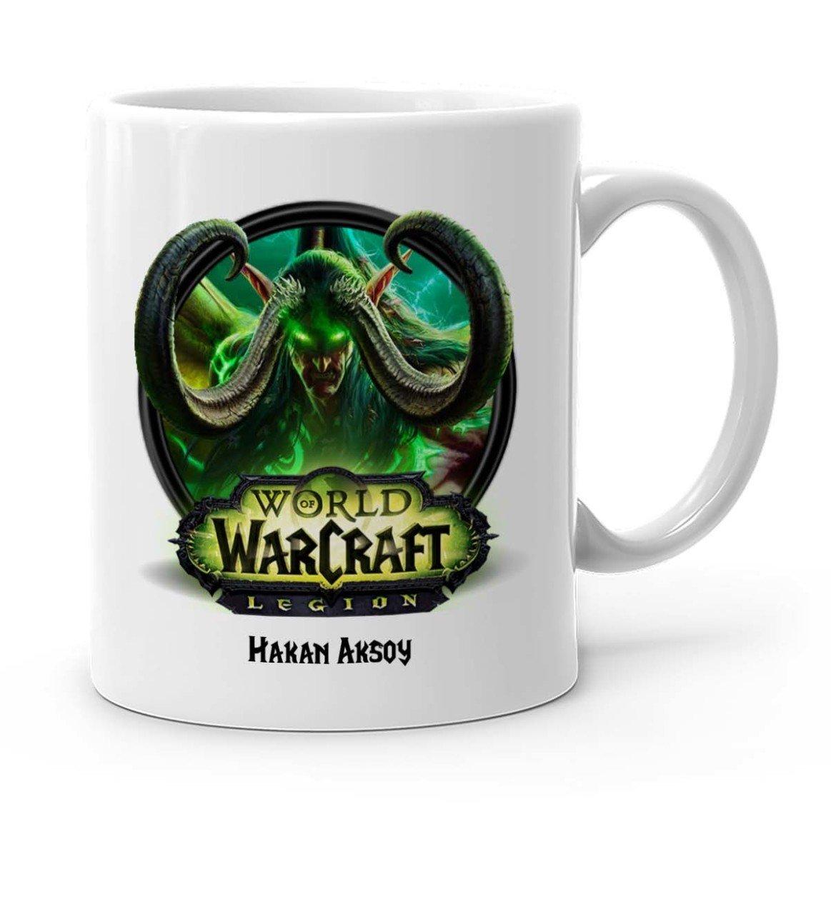 Tazón taza blanca legión mundo personalizado de Warcraft-1