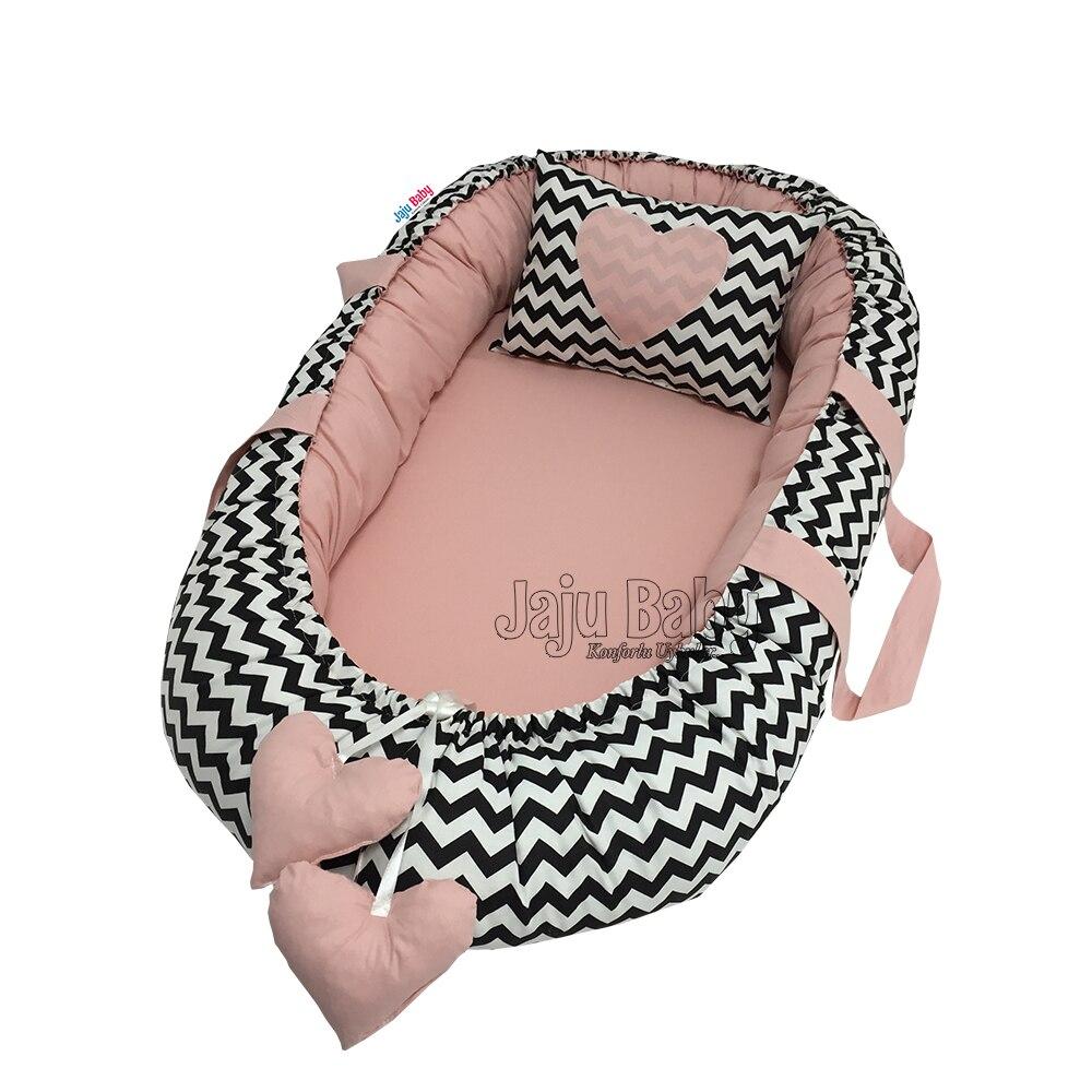 Jaju Baby Nest Black Switchback Powder Orthopedic Babynest Baby Bedding 100x60cm