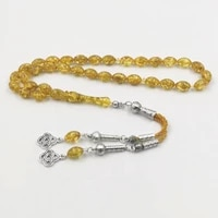 golden resin tasbih muslim bracelet gift 33 prayerbeads masbaha 2020 design misbaha turkies accessories handmade rosary