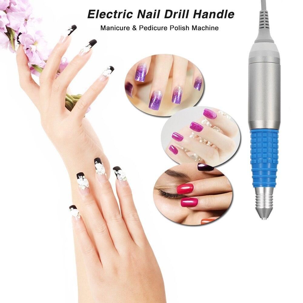 Electric Nail Drill Handle Handpiece Nail Drill Pen Manicure & Pedicure Polish Machine 30000RPM Random Colors Nail Art Tool
