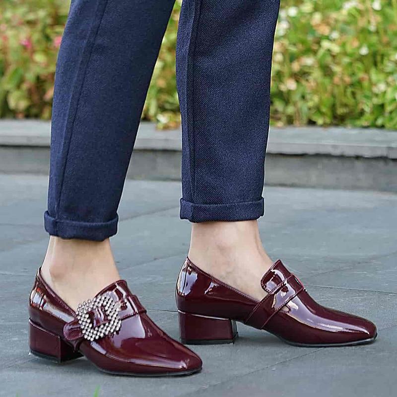 ميو جوستو ماركة صوفيا ، 3 سنتيمتر كعب منخفض ، أسود الجلد الأزرق بورجوندي الأزرق الداكن ، عالية الجودة المرأة أحذية الراحة غير رسمية