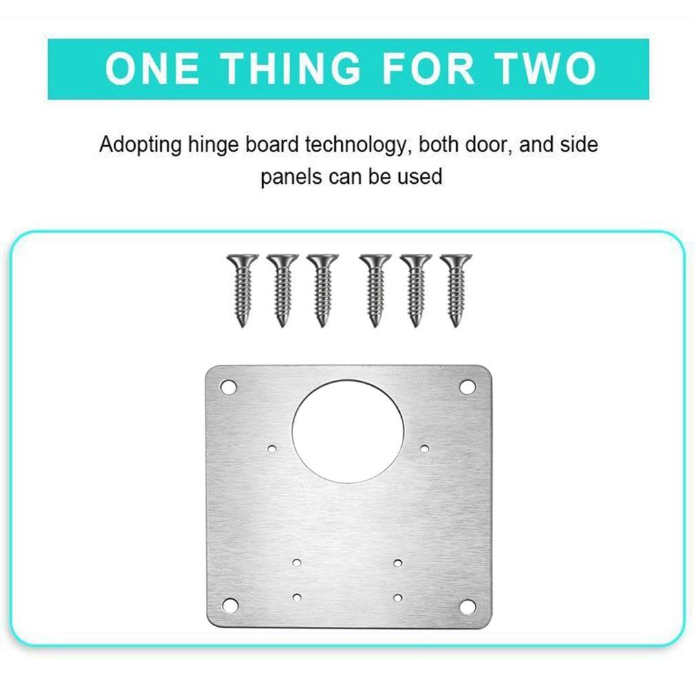 Hot High Quality Hinge Repair Mounting Plate Stainless Steel Platen Hinge Door Accessories Anti-rust Beautiful Durable Plate